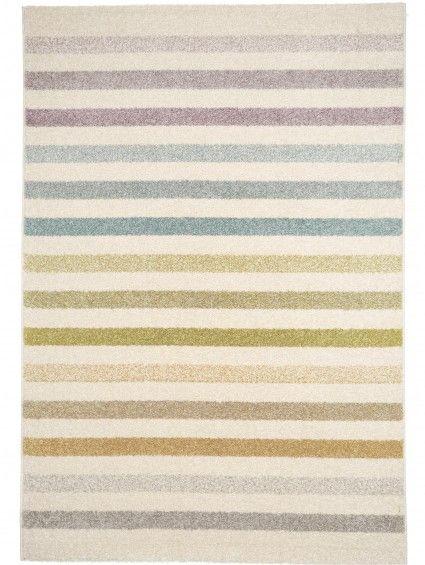 Pastel Striped Rug Beige 120x170 cm Streifenteppich