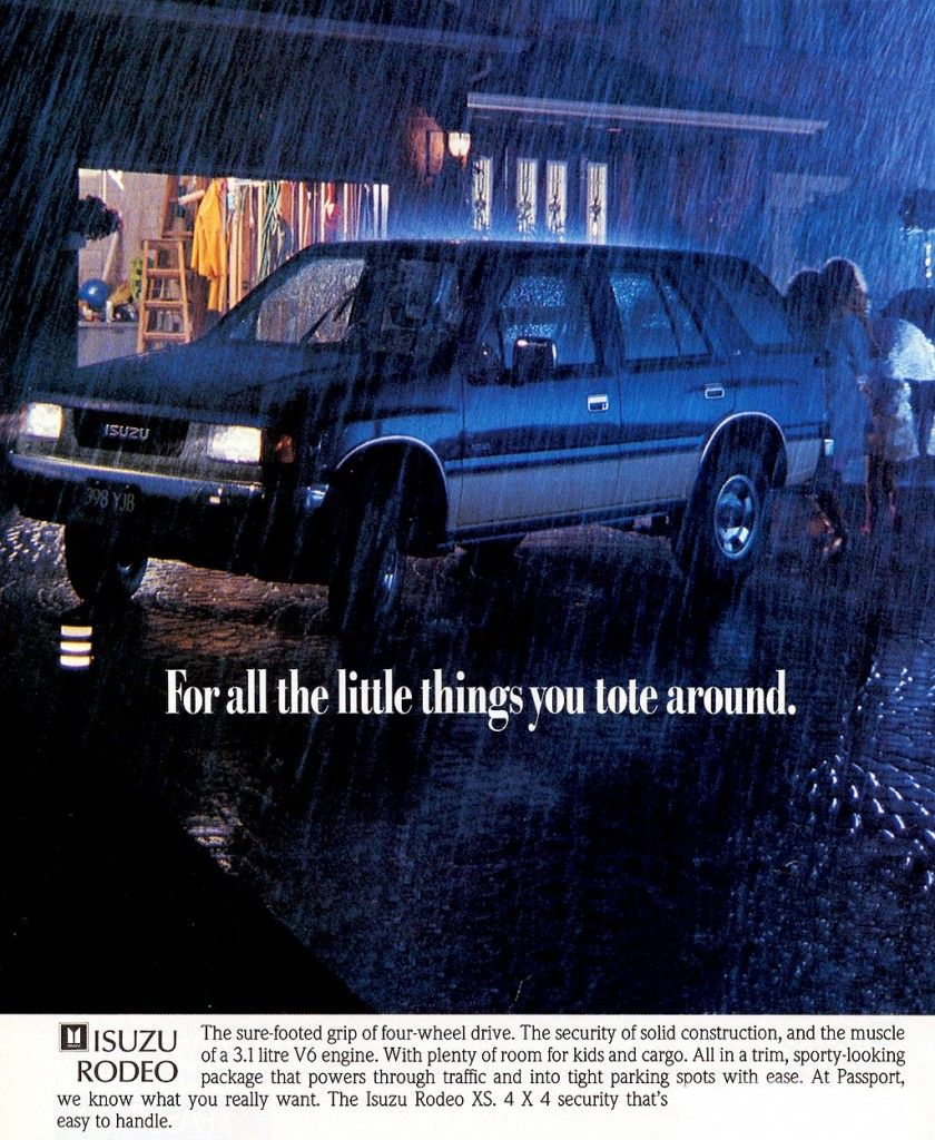 Isuzu Rodeo Ad Never Really Liked The 2 Tone Color Scheme Retro Cars Rodeo Rodeo Life
