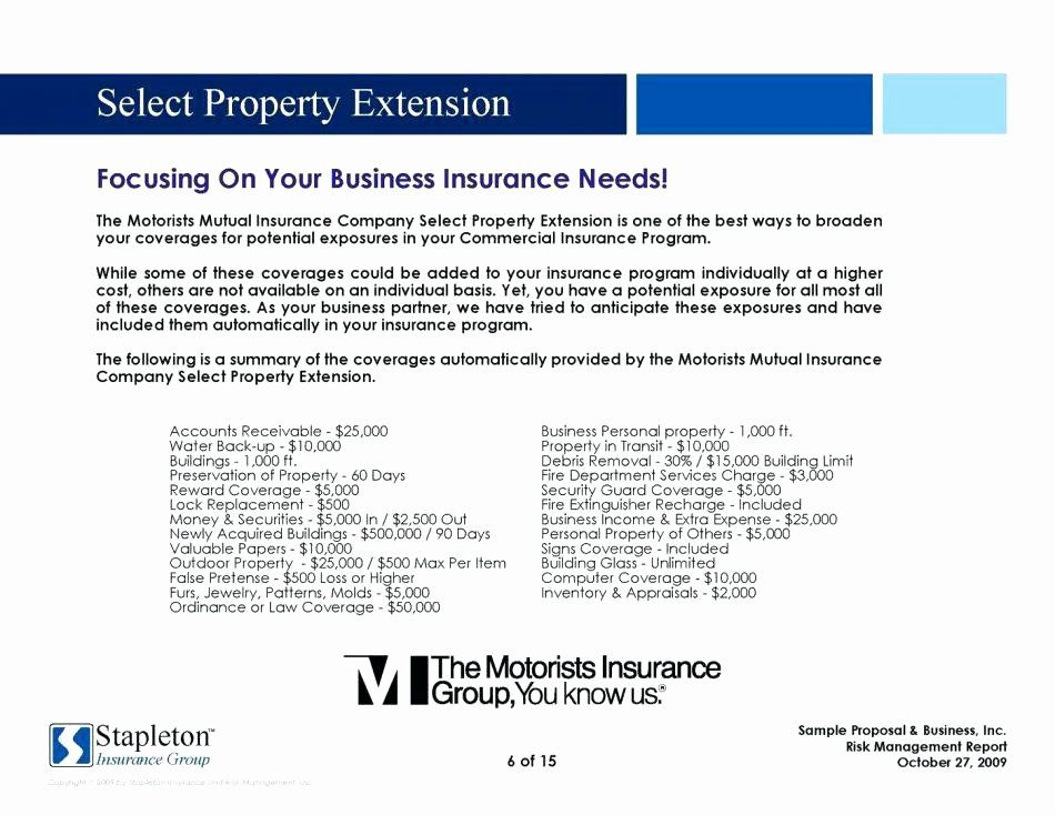 Commercial Insurance Proposal Template In 2020 Commercial