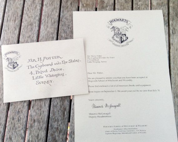 Harry Potter  Acceptance Letter Personalised  Platform