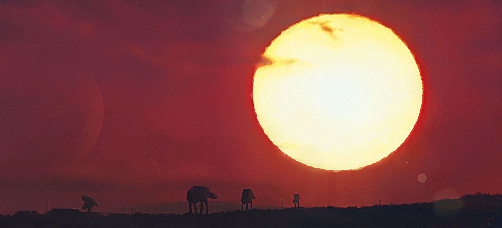 """Check out this @Behance project: """"Imperial AT-ATs on Dawn Patrol"""" https://www.behance.net/gallery/52623583/Imperial-AT-ATs-on-Dawn-Patrol"""