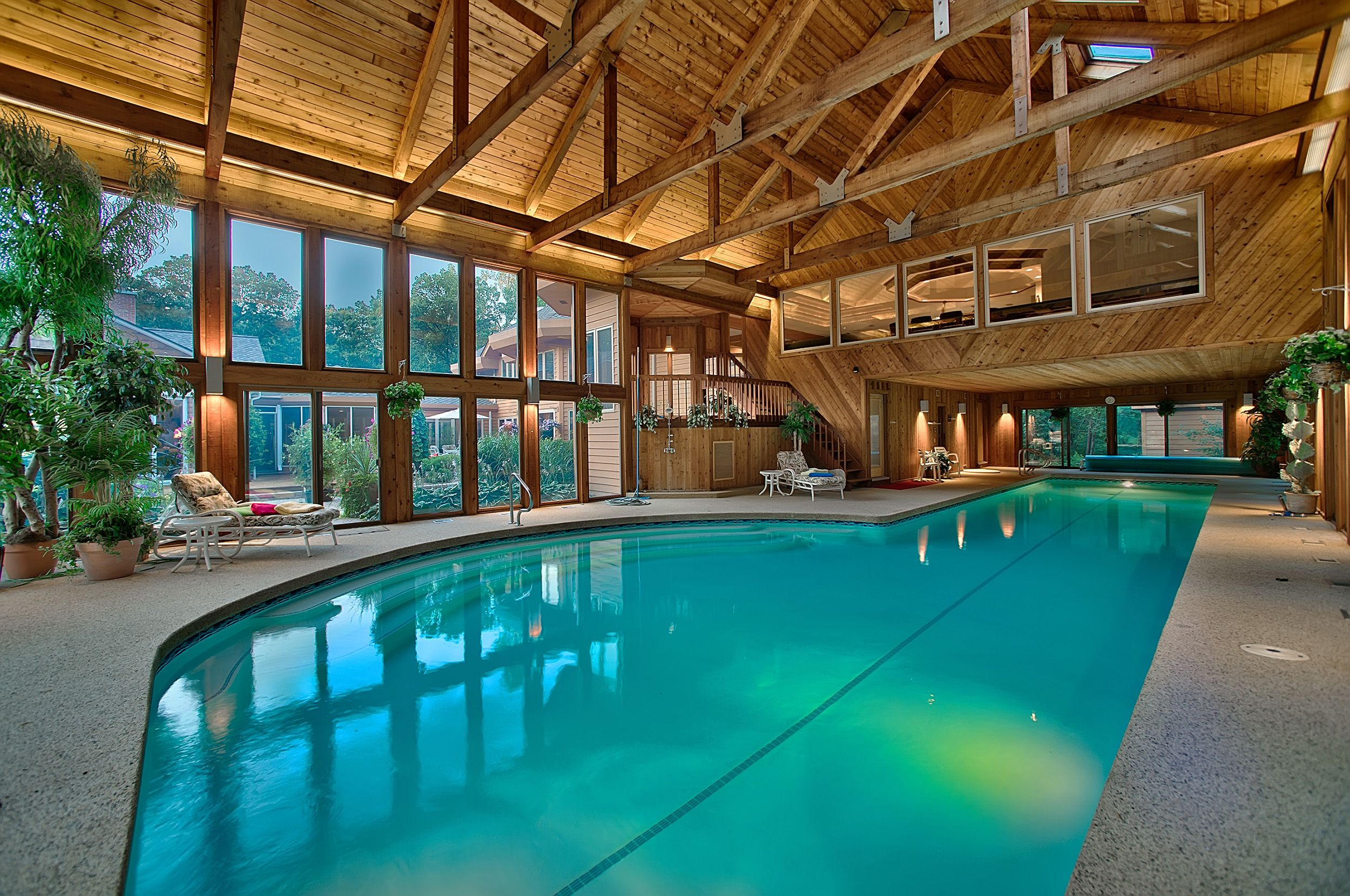 Here Is An Indoor Pool Worthy Of Daily Soaks. Buy It    And The
