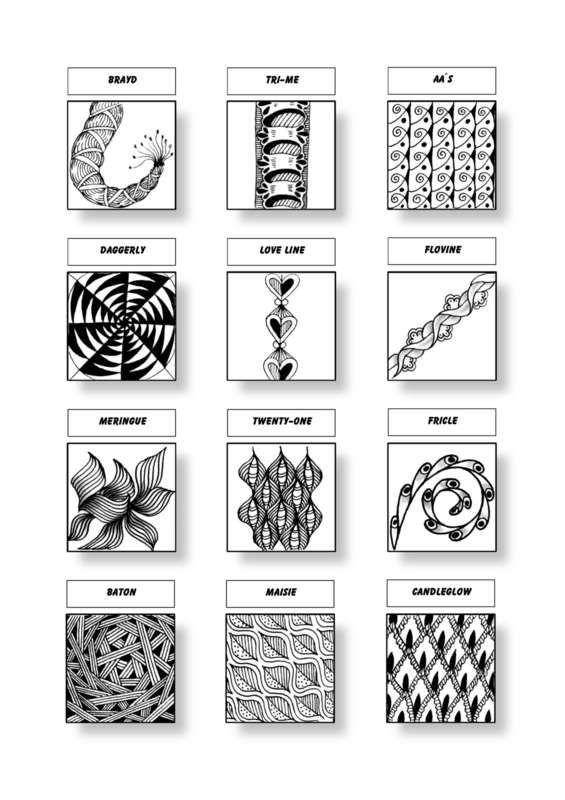 Cofono Czt Certified Zentangle Teacher Mustersammlung Zentangle Muster Verflechtung Muster Zentangle