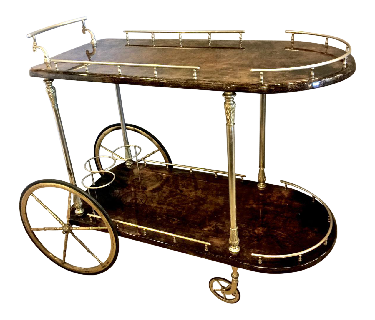 Elegant Bar Cart with Removable Tray