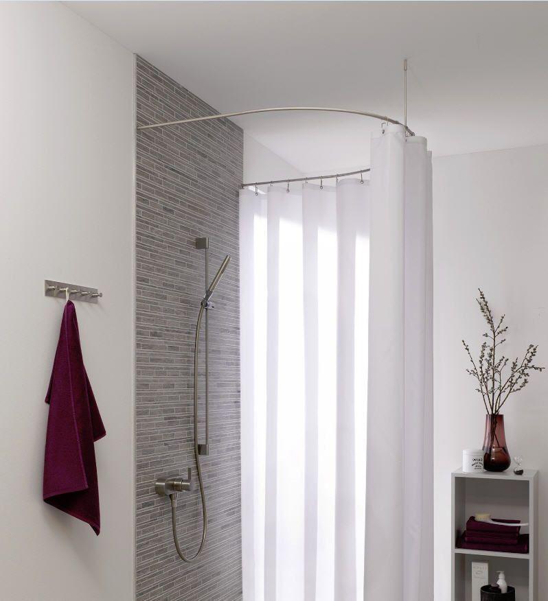 Barra Per Tenda Doccia.Barra Per Tenda Doccia Fotografia 2 Shower Curtain Rods Round