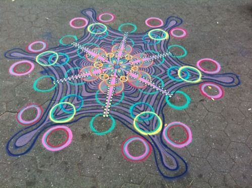 Sand painter uses manhattan sidewalks as his canvas indian sand painting by joe mangrum his artwork is in keeping with cultural traditions from around the sciox Image collections