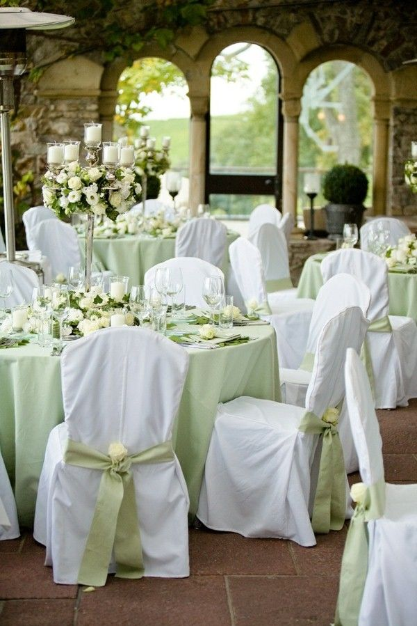 Fresh Tips For Table Decoration In Green And White!   Decoration Ideas