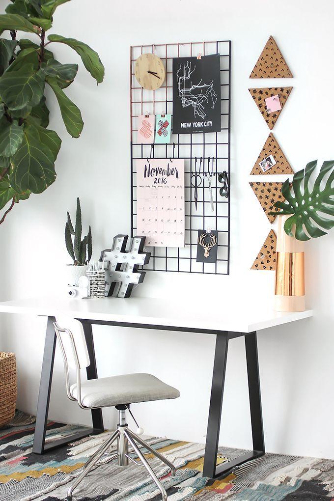 My Diy Grid Wall Organization I Spy Diy Diy Desk Decor Decor Home Office Decor
