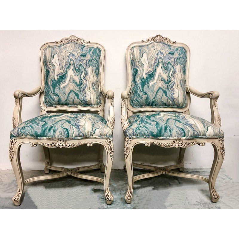 Charmant French Style Arm Chairs   A Pair For Sale In Atlanta   Image 6 Of 7