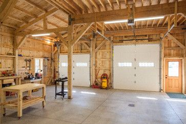Workshop With Loft Living Farmhouse Garage And Shed Other Metro By Sand Creek Post Beam Farmhouse Garage Garage Design Wooden Workshops