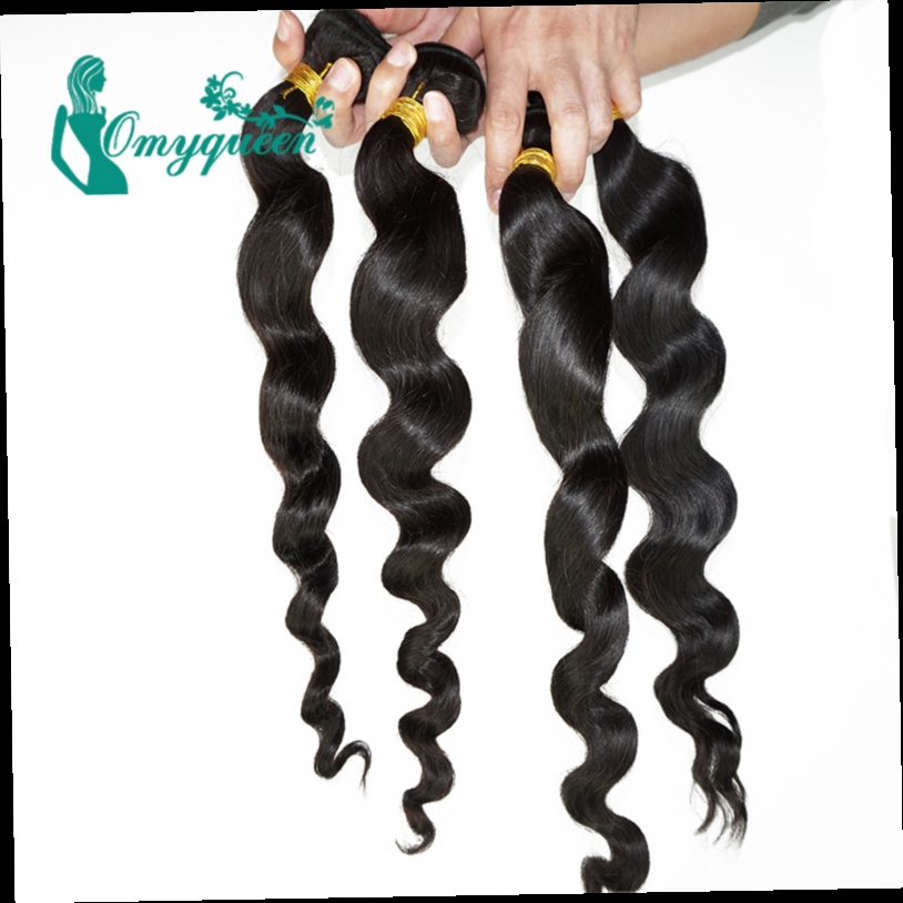 172.56$  Buy now - http://ali0kd.worldwells.pw/go.php?t=32345582679 - Indian Loose Wave Virgin Hair 6A Unprocessed 100% Human Virgin Hair Weaves Natural Black 4pcs lot Indian Loose Curly Virgin Hair