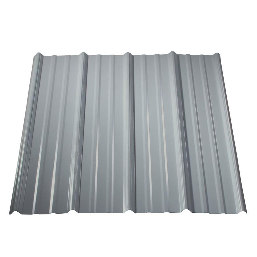 Metal Sales Classic Rib 3 Ft X 8 Ft Ribbed Metal Roof Panel Lowes Com Metal Roof Panels Corrugated Metal Roof Fibreglass Roof
