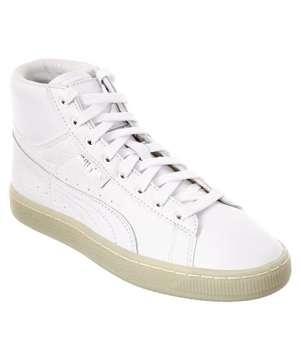 Puma 's Basket Mid Ali Leather Sneaker White For Women