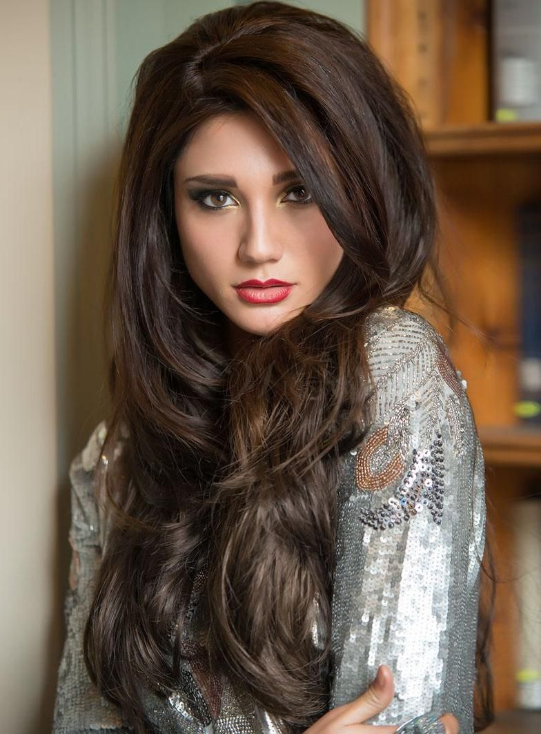 Best beautiful smooth long loose wavy lace front wig 100