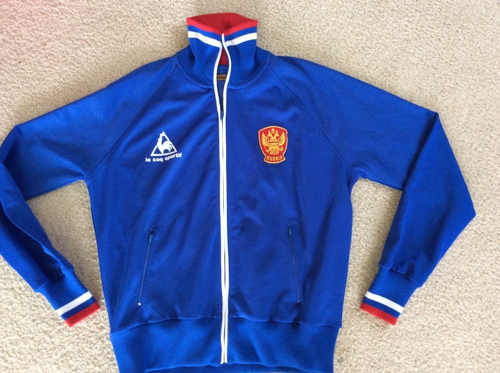 vintage le coq sportif russia national team soccer warm up jacket xl. Black Bedroom Furniture Sets. Home Design Ideas