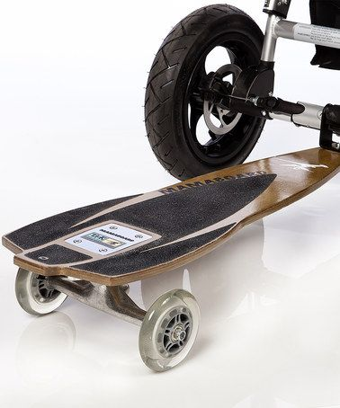 um a skateboard attachment for a stroller awesome but