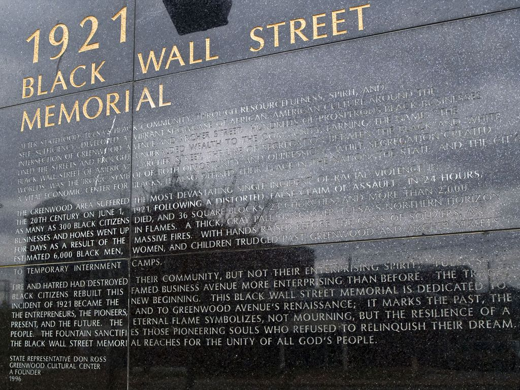 1921 Tulsa Black Wall Street Memorial Black History Facts