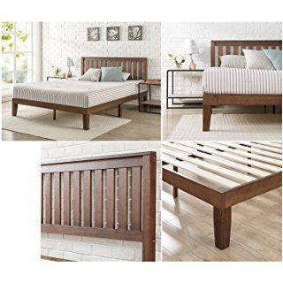Zinus 12 Inch Solid Wood Platform Bed With Headboard No Box
