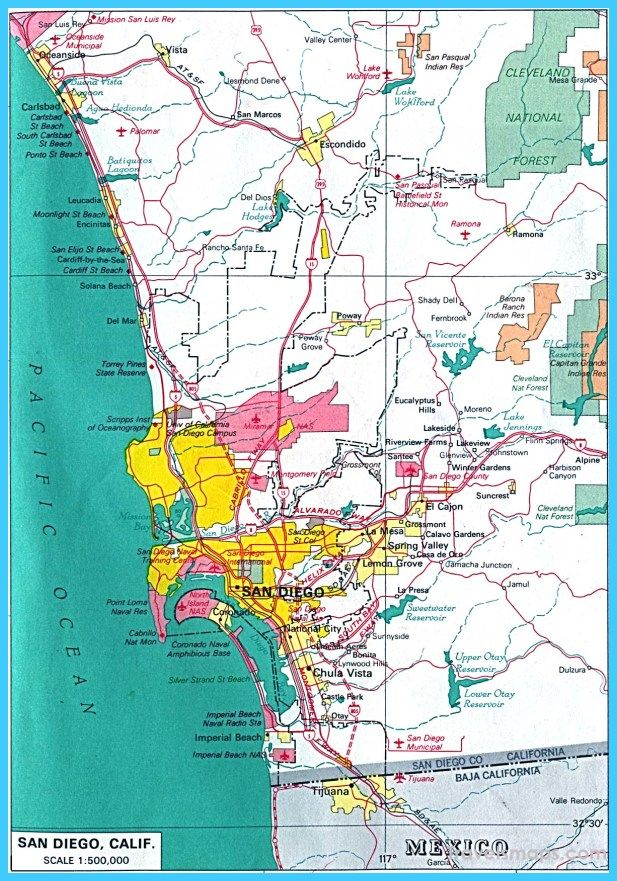 awesome Map of San Diego California  Travelsmaps  Pinterest