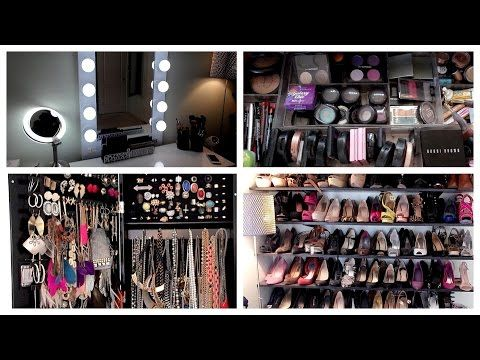 Beauty Room Tour Vanity Makeup Collection Organization Storage
