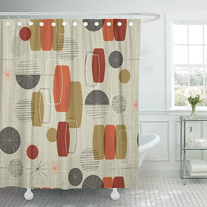 Amazon Com Semtomn Shower Curtain Waterproof Polyester Fabric 72