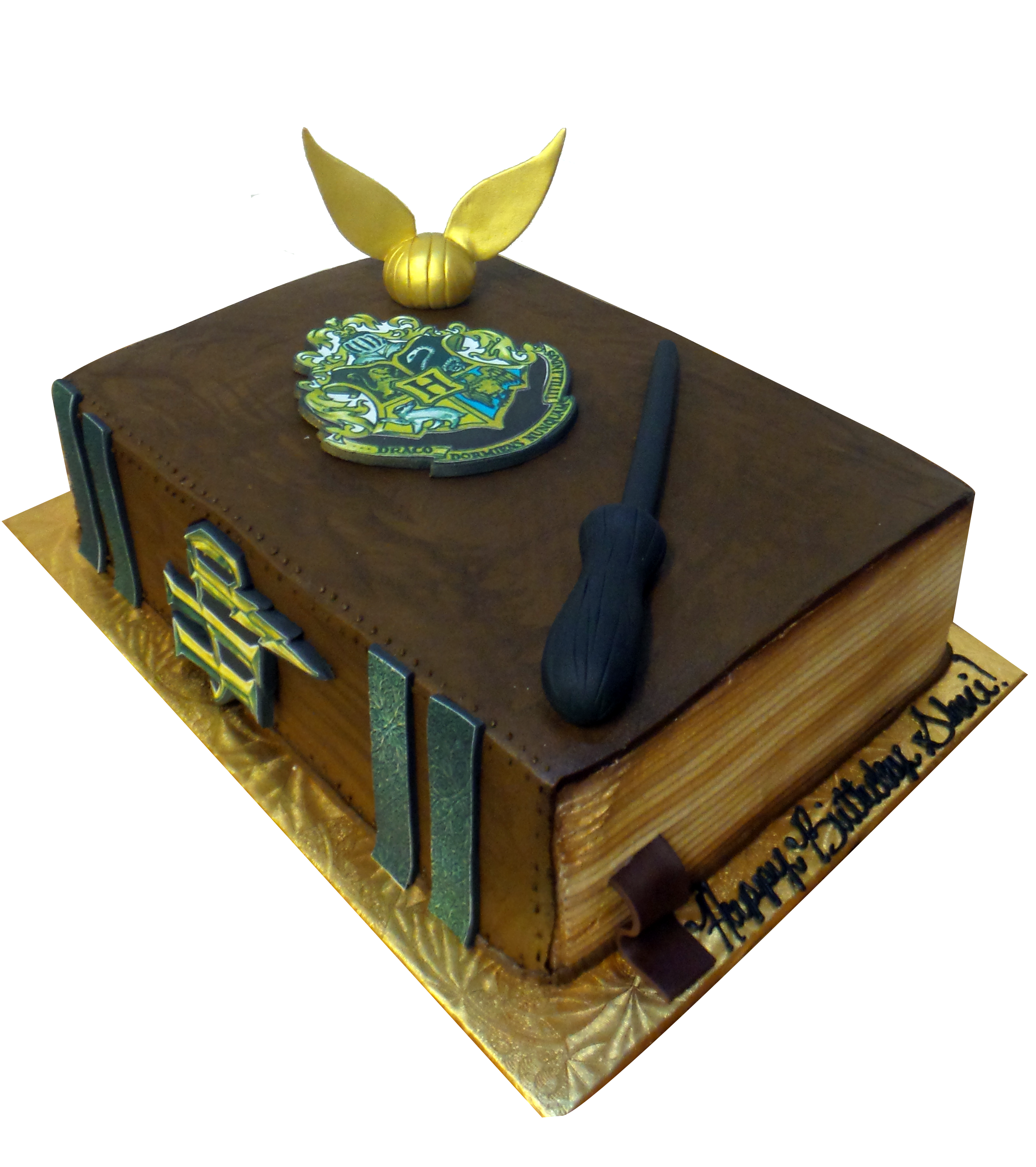 Harry Potter Wizard Book Cake