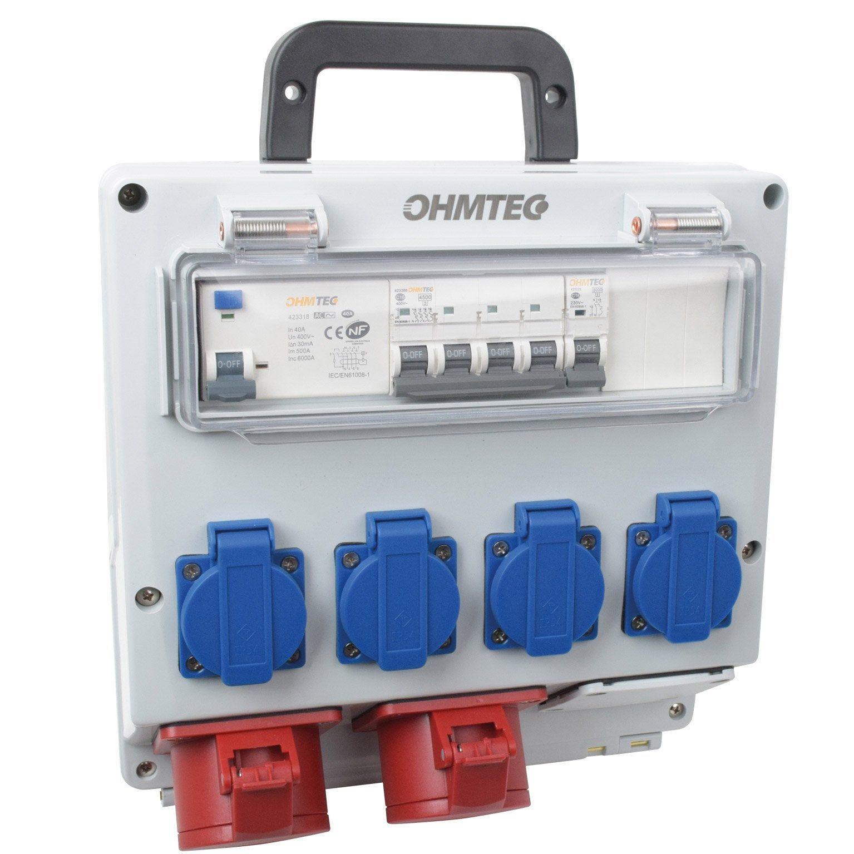 Radiant De Chantier Leroy Merlin coffret de chantier étanche ohmtec 1 rangée 12 modules