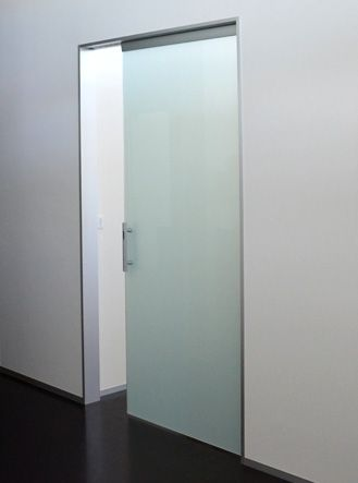 Single Pocket Doors Glass single glass sliding door - for entry into shower and bath area
