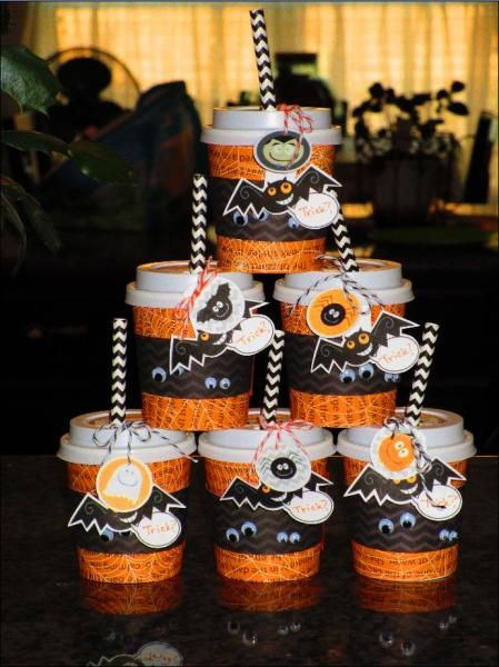Halloween Mini Coffee Cups by giasiana - Cards and Paper Crafts at Splitcoaststampers #coffeecups