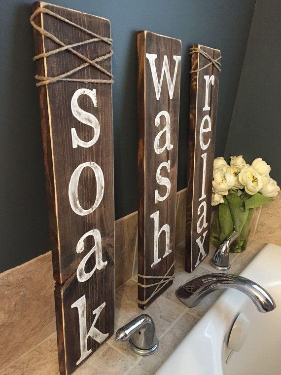 Soak Wash Relax Bathroom Signs Relaxing Bathroom