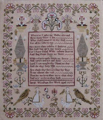 Sarah Woodham 1770 de Shakespeare's Peddler - Esquemas Punto de Cruz - Bordado…