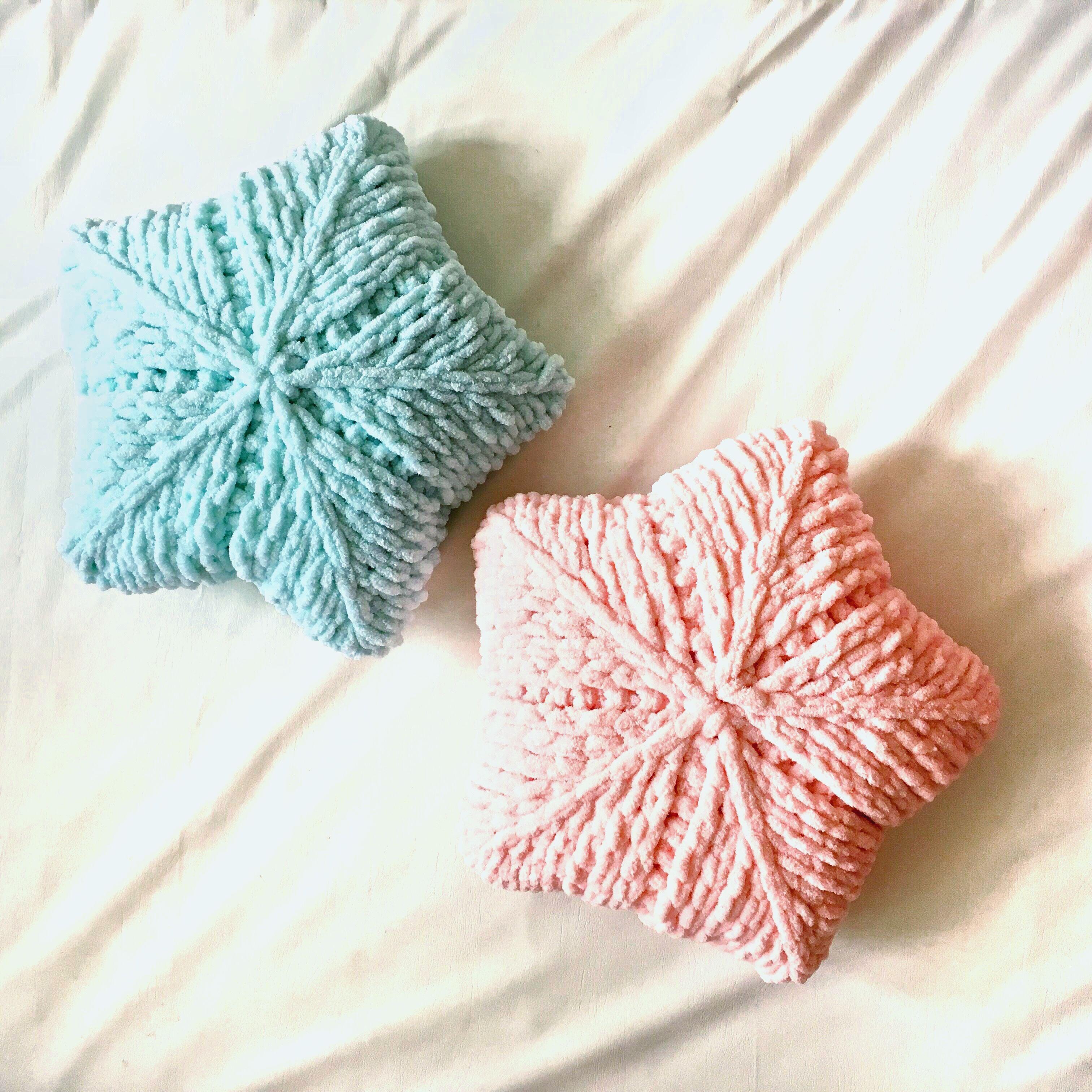 мастер класс подушка звезда Puffy подушки вязание и