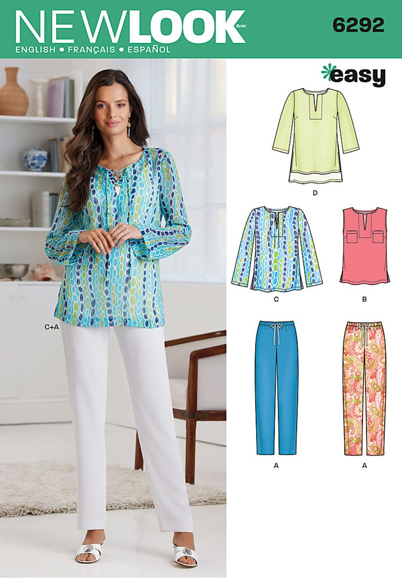 Simplicity Creative Group - Misses\' Tunic or Top and Pull-on Pants ...