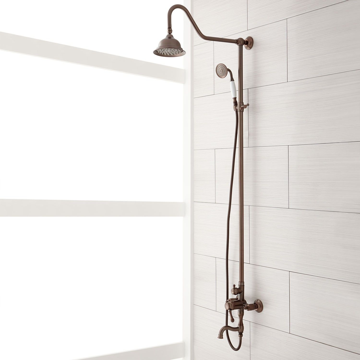 Exposed Pipe Shower System With Tub Faucet.Pin On Home Wishes