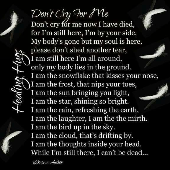 Don T Cry For Me I M Still Here Dont Cry Heaven Sent