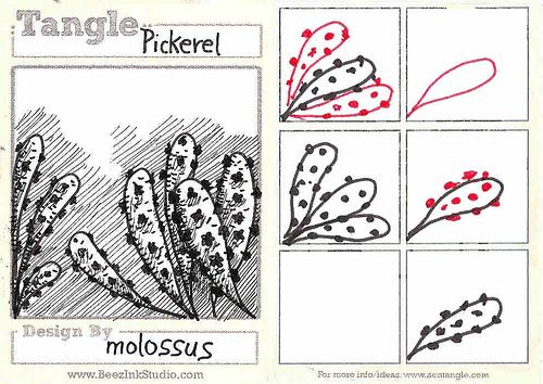My tangle pattern-Pickerel by molossus, who says Life Imitates Doodles, via Flickr