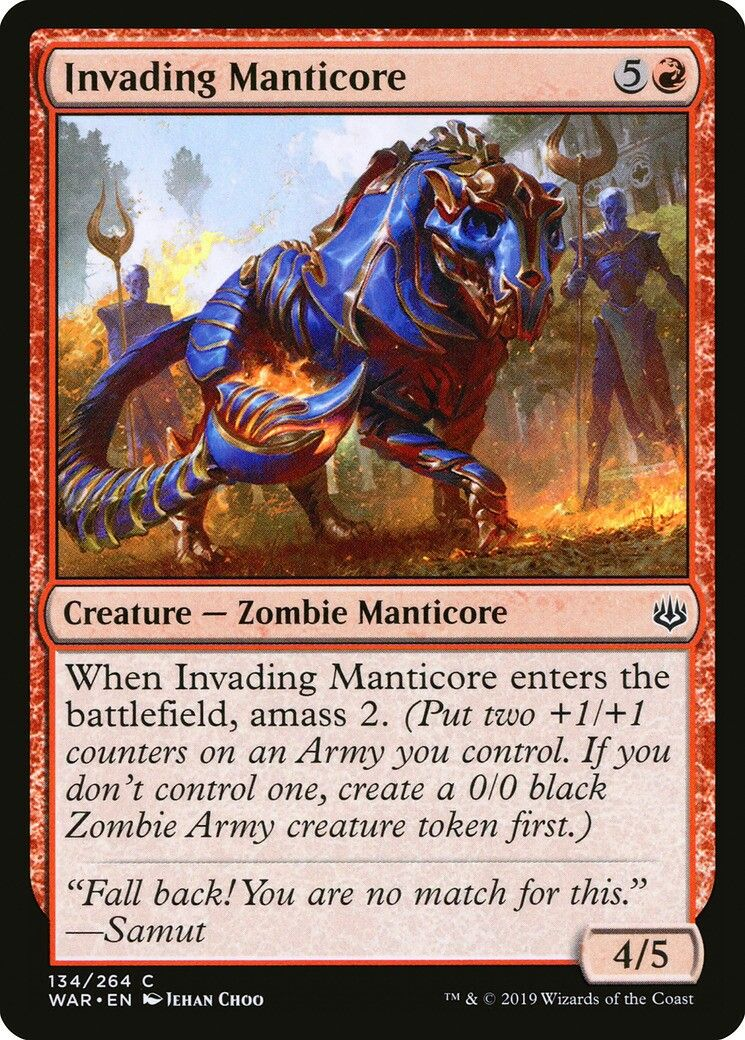4 x GRIM INITIATE NM mtg War of the Sparks Red Zombie Warrior Com