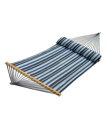 Look what I found on #zulily! Blue Stripe 13' Quilted Hammock & Pillow by Algoma Net Company #zulilyfinds