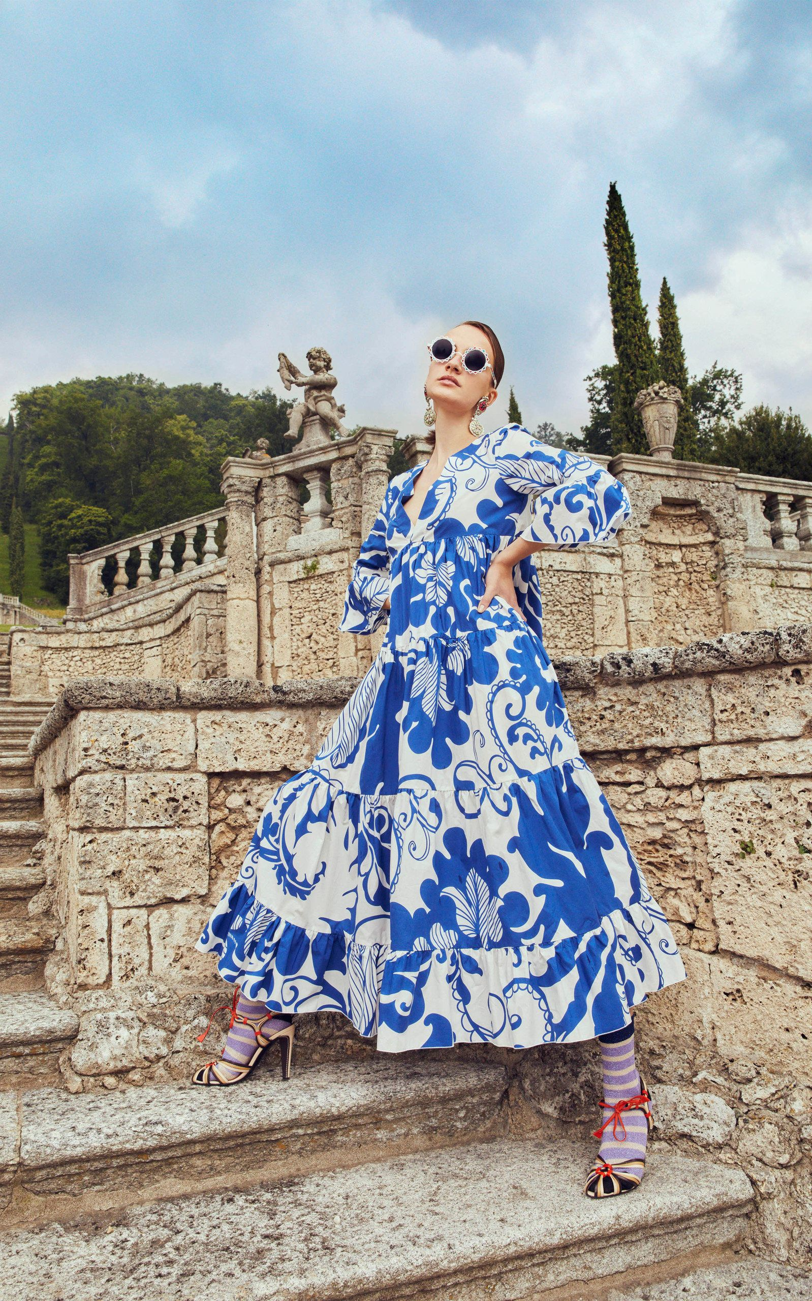 La Doublej Jennifer Jane Floral Print Cotton Maxi Dress Fashion Show Fashion Maxi Dress Cotton