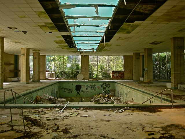 Pines Hotel Indoor Pool Abandoned Hotels Abandoned Places Abandoned