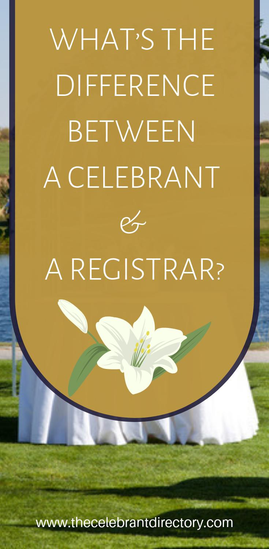 Registrar or Celebrant? You have a choice! Small