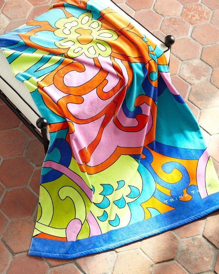 Trina Turk Cactus Flower Beach Towel Made Of Cotton 60