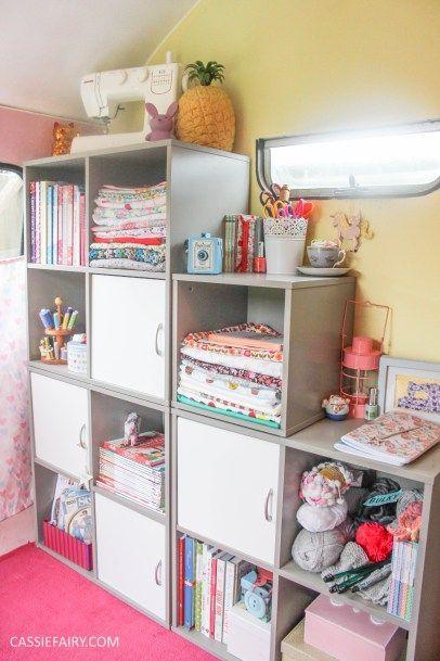My Little Vintage Caravan   Ultimate Sewing Room Storage