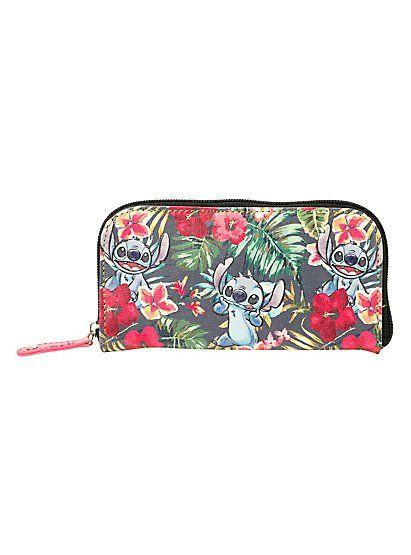 Disney Lilo & Stitch Floral Stitch Design Cosmetic 5 Piece ...