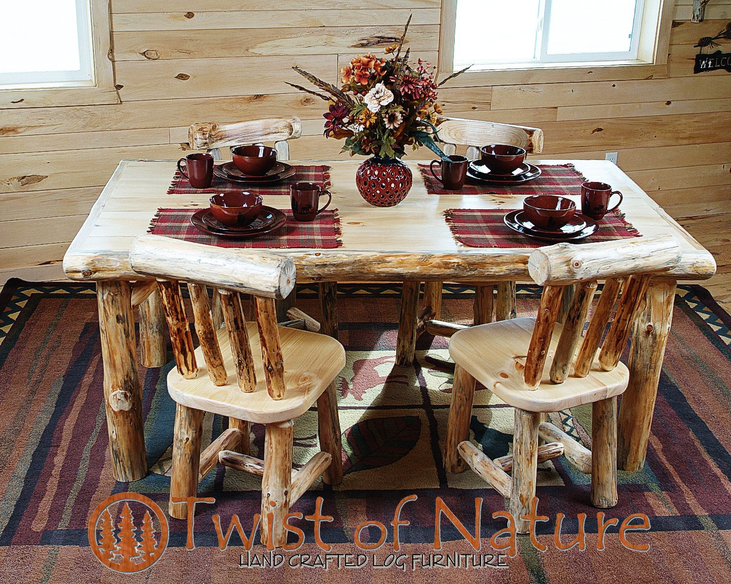 Handmade Log Dining Table Dining Table Furniture Dining Table