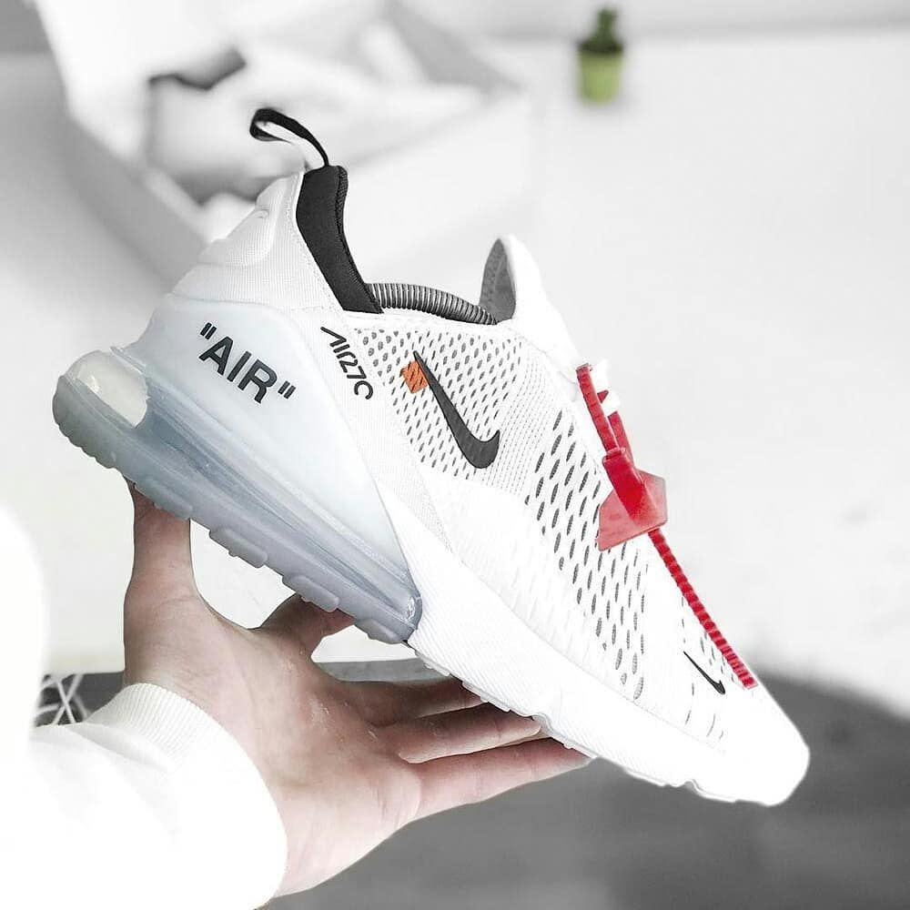 tolerancia escarcha Memorándum  Off White x Nike Air Max 270 #hypebeast #streetwear | Sneakers men fashion,  Sneakers, White nikes