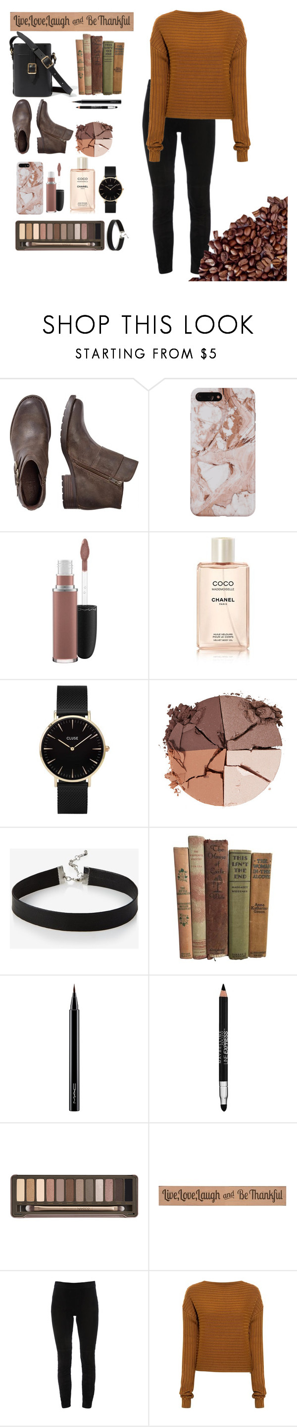 """Untitled #70"" by rana021 ❤ liked on Polyvore featuring MAC Cosmetics, CLUSE, lilah b., Express, Maybelline, Urban Decay, DutchCrafters, Elie Tahari and TIBI"