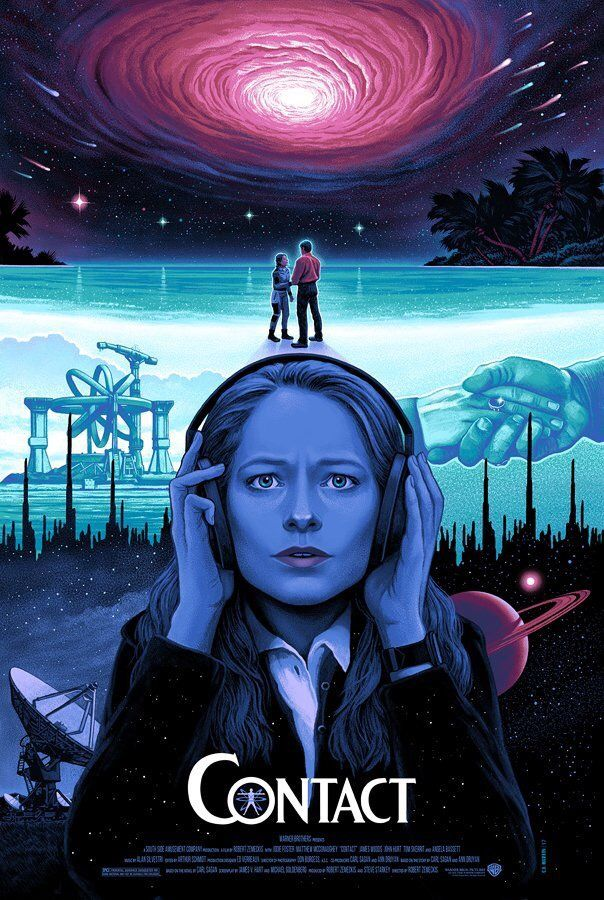 Contact 1997 Is A Movie That Jodie Foster Was Not Particularly Proud Of It Uses The Same Time Machine A Contact Movie Cinema Posters Alternative Movie Posters
