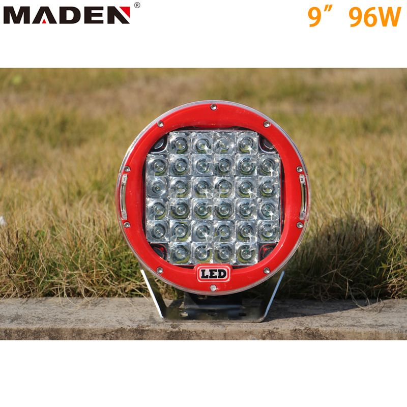 9inch 96w Led Driving Light Led Power 96w Material Diecast Aluminum Housing Operating Volt 10 30volt Dc Light Led Driving Lights Led Work Light Led Light Bars