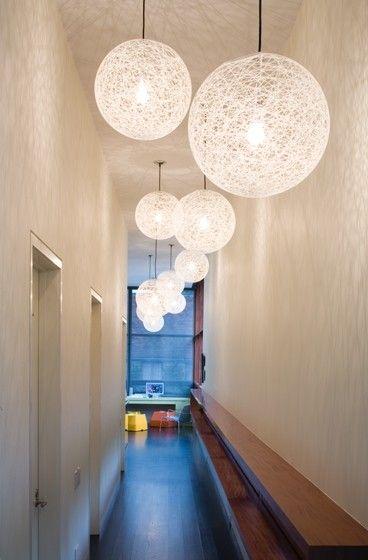 Pretty Lighting Idea For Long Narrow Hallways Long Hall Foyer Decorating Hall Lighting